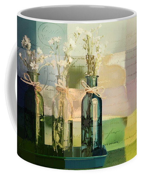 green Bottles Coffee Mug featuring the photograph 1-2-3 Bottles - J091112137 by Variance Collections