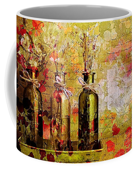 three Bottles Coffee Mug featuring the photograph 1-2-3 Bottles - S12a203 by Variance Collections