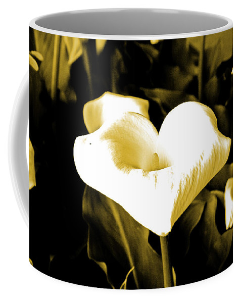 Flowers Coffee Mug featuring the digital art A Flower In The Shadows by Joseph Coulombe