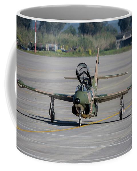Greece Coffee Mug featuring the photograph A Hellenic Air Force T-2 Buckeye by Timm Ziegenthaler