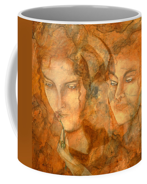Giorgio Coffee Mug featuring the painting A Love That Will Never Fade by Giorgio Tuscani