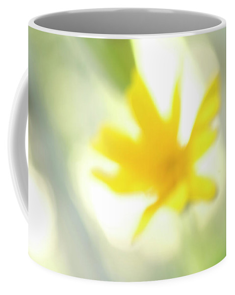 Freshness Coffee Mug featuring the photograph Abstract Of Wildflower In Early Morning by Phil Schermeister