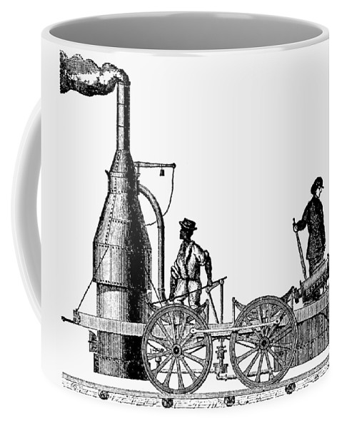 1830 Coffee Mug featuring the painting American Locomotive, 1830 by Granger