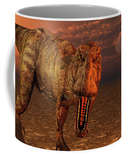 Horizontal Coffee Mug featuring the photograph An Asteroid Hitting The Earth, Marking by Mark Stevenson