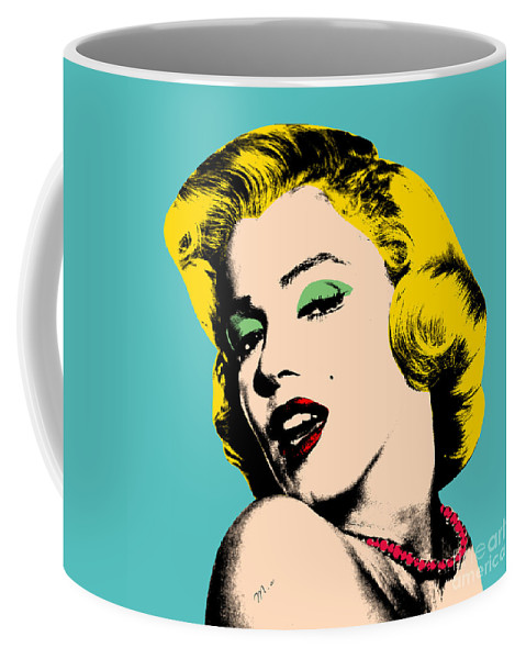 Pop Art Coffee Mug featuring the painting Andy Warhol by Mark Ashkenazi
