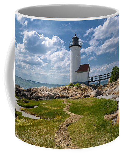 Annisquam Lighthouse Coffee Mug featuring the photograph Annisquam Lighthouse by Liz Mackney
