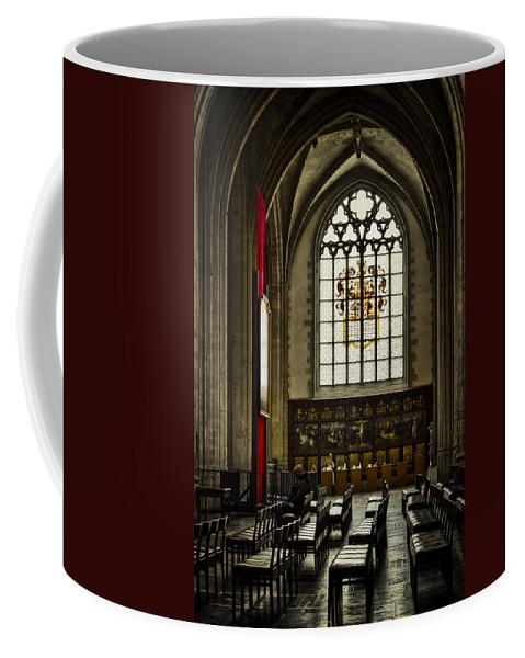 Joan Carroll Coffee Mug featuring the photograph Antwerp Cathedral by Joan Carroll