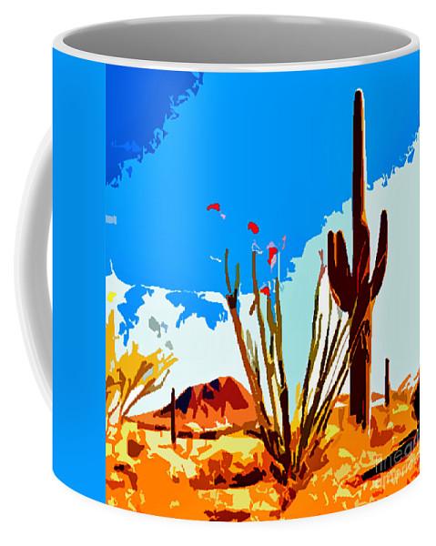 Arizona Coffee Mug featuring the photograph Arizona Desert by Jerome Stumphauzer