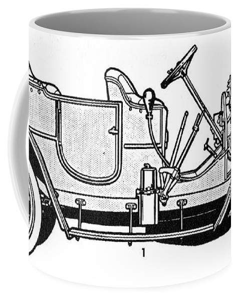 1905 Coffee Mug featuring the drawing Automobile, C1905 by Granger