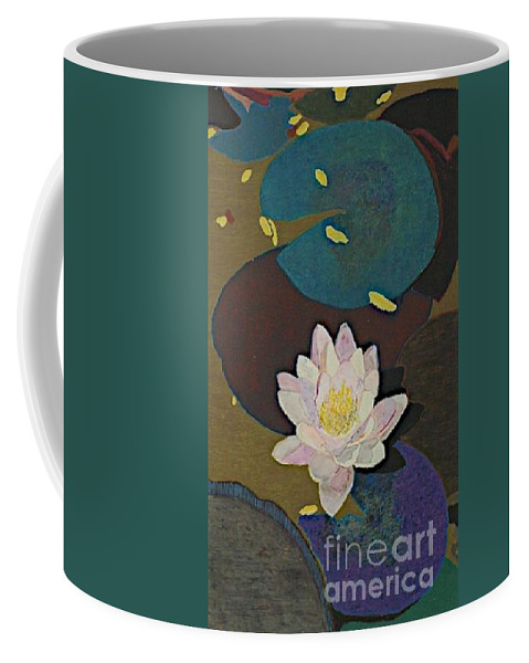 Landscape Coffee Mug featuring the painting Autumn Lily by Allan P Friedlander