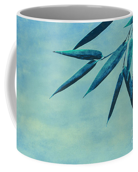 Asia Coffee Mug featuring the photograph Bamboo - Blue by Hannes Cmarits