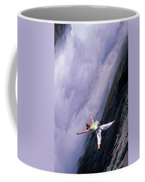 Air Coffee Mug featuring the photograph Bandaloop Dance Company, Yosemite by Peter McBride