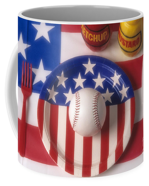 Eat Coffee Mug featuring the photograph Baseball Dinner by Jim Corwin