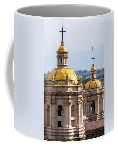 Mexico Coffee Mug featuring the photograph Basilica Towers by Jess Kraft