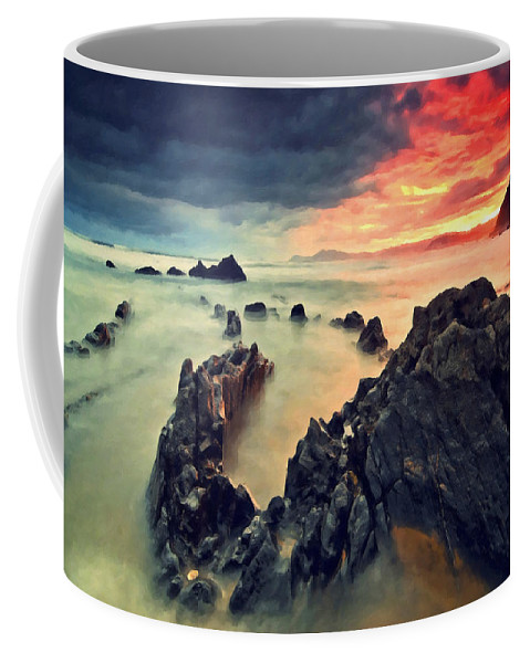 Clouds Coffee Mug featuring the photograph Beach 3 by Ingrid Smith-Johnsen