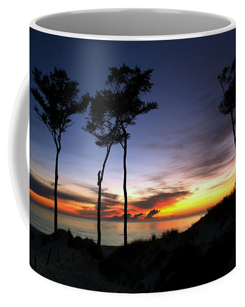 Ostsee Coffee Mug featuring the pyrography Beach Sunset by Steffen Gierok