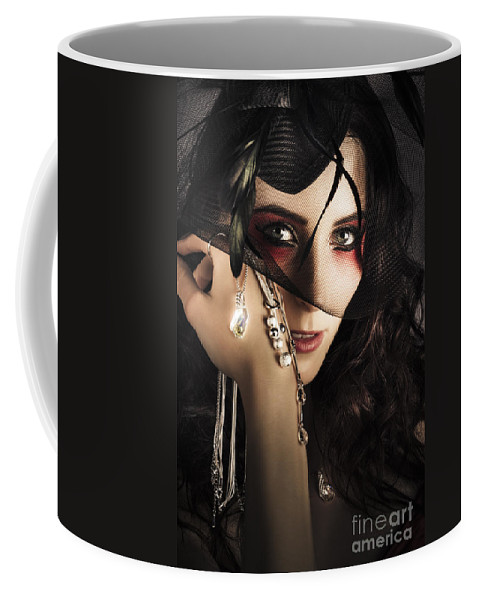 Accessories Coffee Mug featuring the photograph Beautiful Female Fashion Model In Luxury Jewellery by Jorgo Photography - Wall Art Gallery