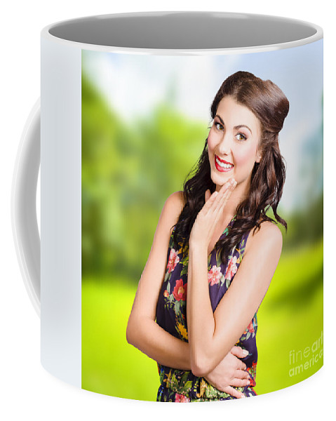 Skin Coffee Mug featuring the photograph Beauty Girl. Beautiful Young Woman With Clean Skin by Jorgo Photography - Wall Art Gallery