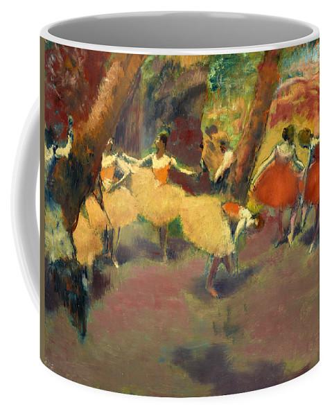 Edgar Degas Coffee Mug featuring the painting Before The Performance by Edgar Degas