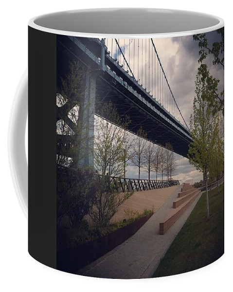 Aprilphotoaday Coffee Mug featuring the photograph Ben Franklin Bridge by Katie Cupcakes