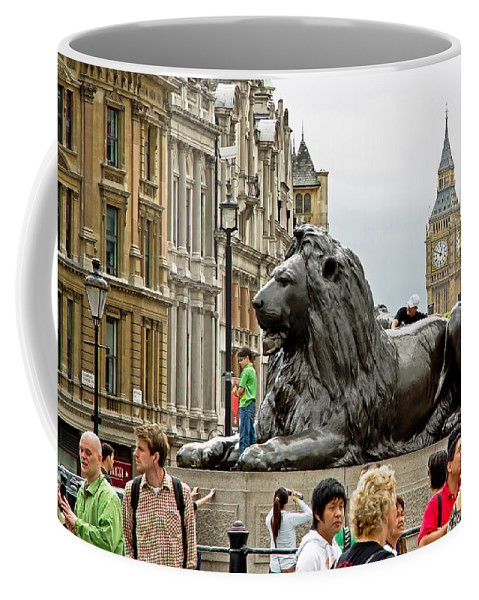 London Coffee Mug featuring the photograph Big Lion Little Ben by Keith Armstrong