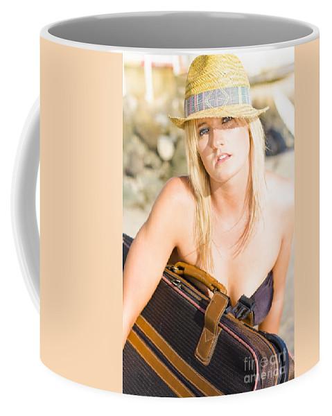 Attractive Coffee Mug featuring the photograph Bikini Wanderer by Jorgo Photography - Wall Art Gallery