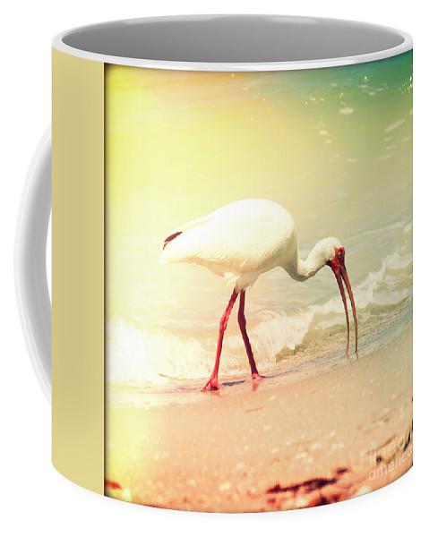 Florida Coffee Mug featuring the photograph Bird Breakfast by Chris Andruskiewicz