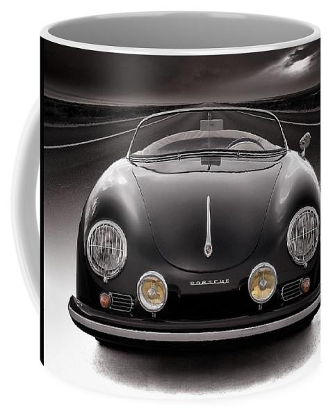 Porsche Coffee Mug featuring the photograph Black Porsche Speedster by Douglas Pittman