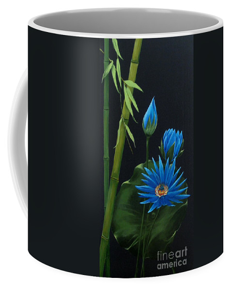Dlgerring Coffee Mug featuring the painting Blue Lotus by D L Gerring