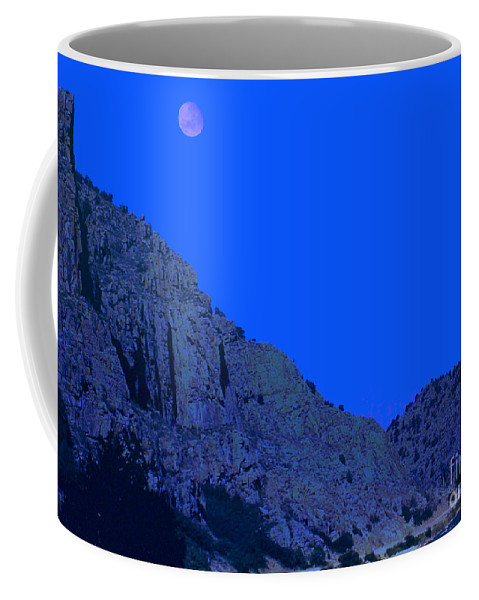 Moon Coffee Mug featuring the photograph Blue Moon by Lydia Holly