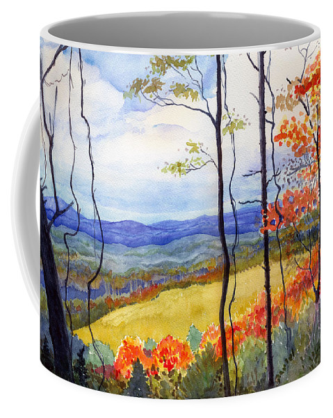Blue Ridge Mountains West Virginia Coffee Mug featuring the painting Blue Ridge Mountains Of West Virginia by Katherine Miller
