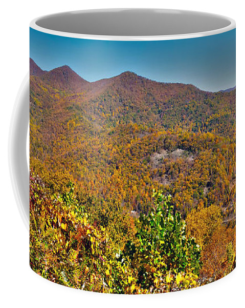 View Coffee Mug featuring the photograph Blue Ridge Parkway by Alex Grichenko