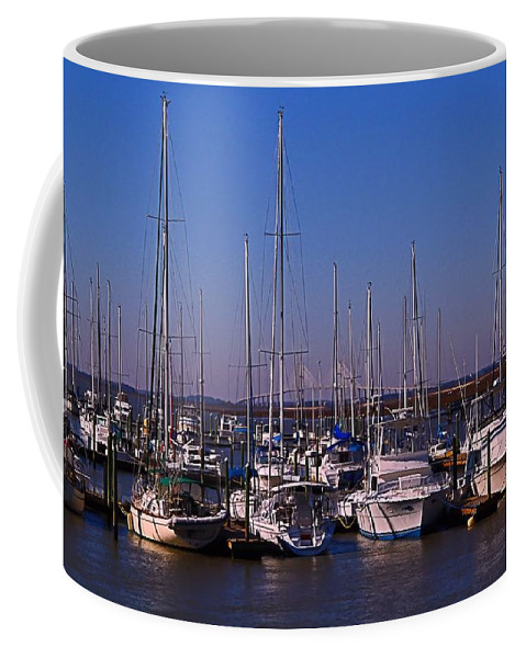 Boat Coffee Mug featuring the photograph Boat Basin by Kathryn Meyer