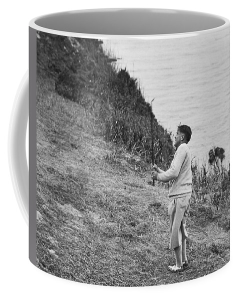 1929 Coffee Mug featuring the photograph Bobby Jones At Pebble Beach by Julian P. Graham