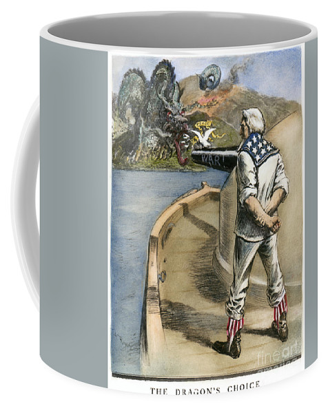 1900 Coffee Mug featuring the drawing Boxer Rebellion Cartoon by Granger