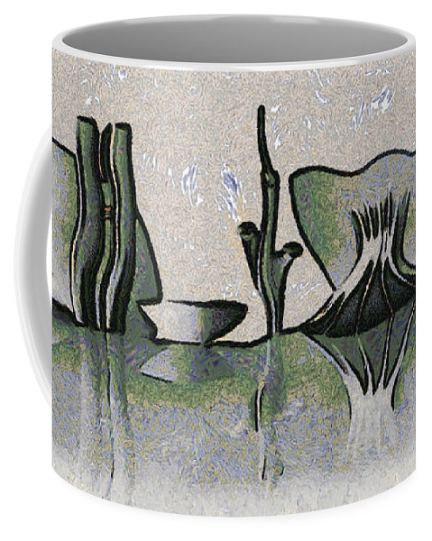Brasil Coffee Mug featuring the mixed media Brasilia Skyline by Michal Boubin