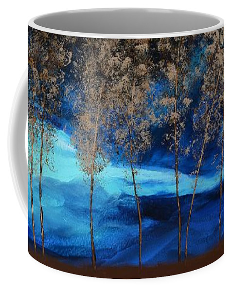 Storm Coffee Mug featuring the painting Brewing Storm by Linda Bailey