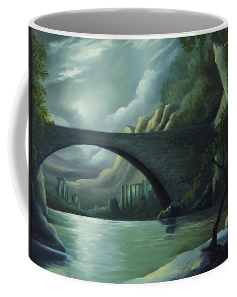 Ghosts Coffee Mug featuring the painting Bridge to Nowhere by James Christopher Hill
