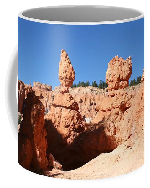 Canyon Coffee Mug featuring the photograph Bryce Canyon Hoodoos by Christiane Schulze Art And Photography