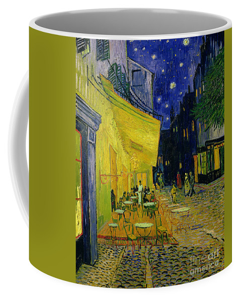 Cafe Terrace Coffee Mug featuring the painting Cafe Terrace Arles by Vincent van Gogh