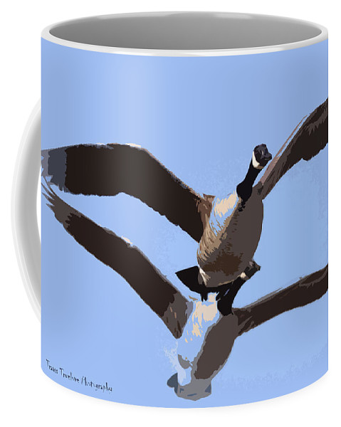 Goose Coffee Mug featuring the photograph Canada Goose by Travis Truelove