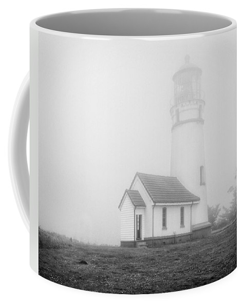 Lighthouse Coffee Mug featuring the photograph Cape Blanco by Claudia Kuhn