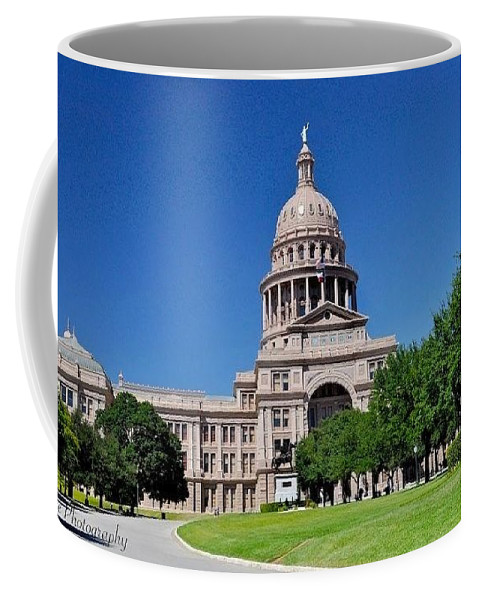 State Capital Of Texas Greeting Cards Coffee Mug featuring the photograph Capital Building by Kristina Deane
