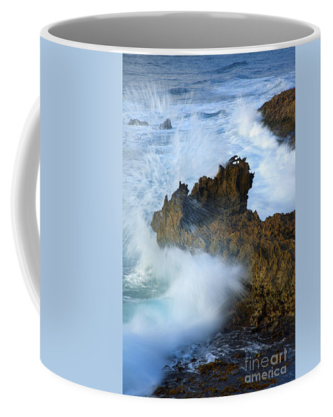 Seasstack Coffee Mug featuring the photograph Carved By The Sea by Mike Dawson