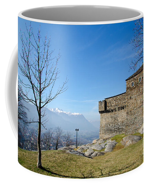 Castle Coffee Mug featuring the photograph Castle And Trees by Mats Silvan