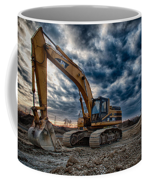 Cat Excavator Coffee Mug