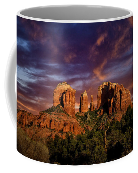 Cathedral Rock Coffee Mug featuring the photograph Cathedral Rock by Diana Powell