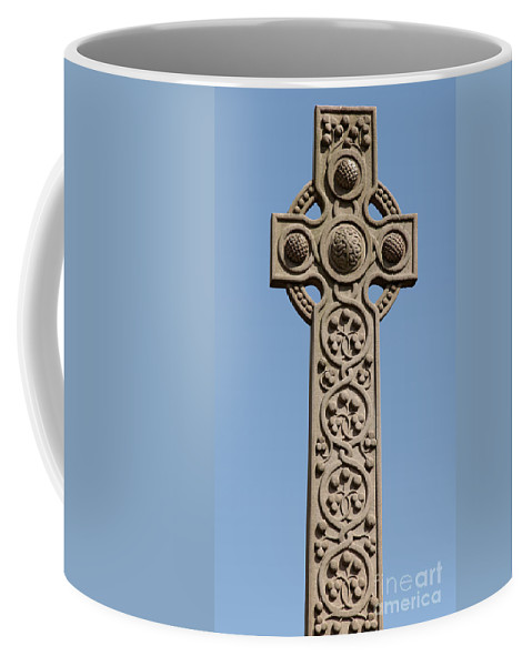 Celtic Cross Coffee Mug featuring the photograph Celtic Cross by Liz Leyden