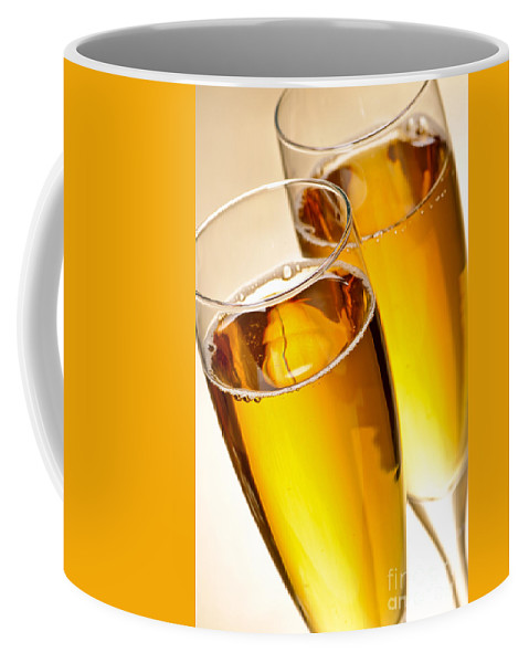Champagne Coffee Mug featuring the photograph Champagne In Glasses by Elena Elisseeva