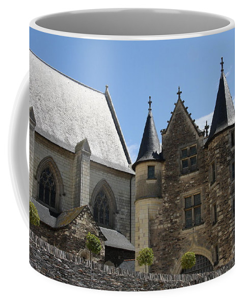 Castle Coffee Mug featuring the photograph Chateau D'angers by Christiane Schulze Art And Photography